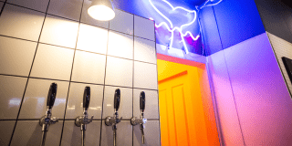 Ghost Whale taps and neon sign